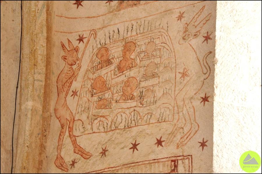 średniowieczne malowidła wlubiechowej