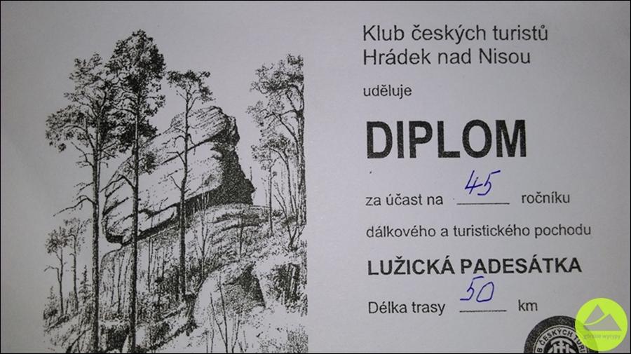 Lužická padesátka dyplom