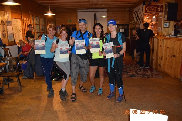 4. Maraton Pieszy Sudecka Żyleta - uczestnicy na mecie
