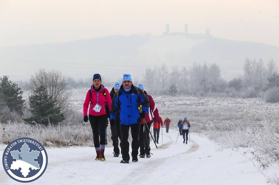 Zimowy Maraton Świętokrzyski, pieszy maraton, najtrudniejszy pieszy maraton