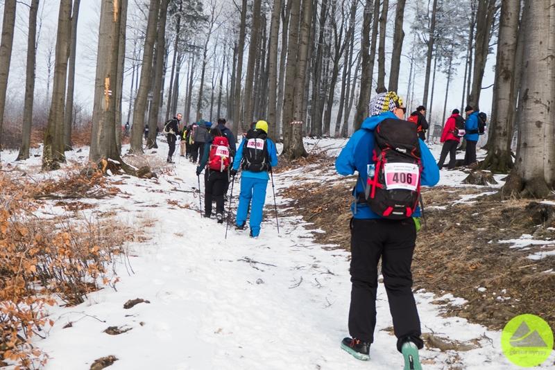 """górskie wyrypy, 4. Maraton Pieszy """"Sudecka Żyleta"""", na trasie, Przełęcz Marcowa, Góry Sowie"""