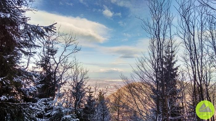 Górskie Wyrypy, widok z Borowej na Wałbrzych