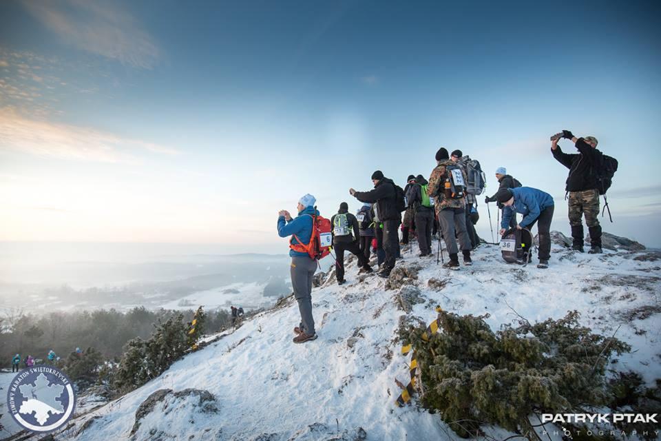zimowy maraton świętokrzsyki, pieszy maraton, górskie wyrypy