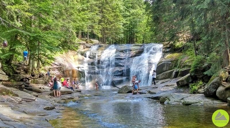 Wodospad Mumlawy, Mumlawski wodospad, Karkonosze, największy wodospad