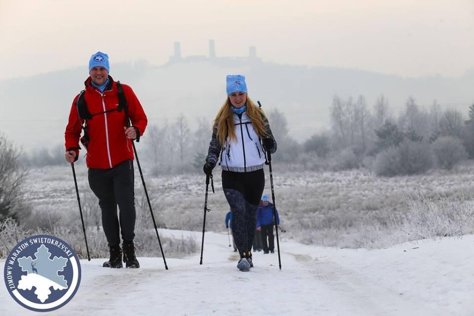 Zimowy Maraton Żwiętokrzyski, pieszy maraton, górskie wyrypy