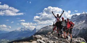 Włochy || Dolomity: via ferrata Ettore Bovero naszczyt Col Rosa