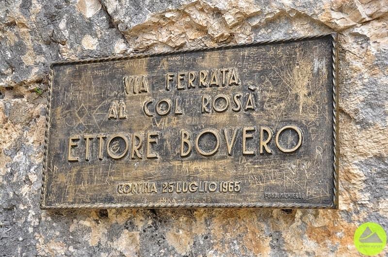 tablica pamiatkowa via ferrata al col rosa ettore bovero