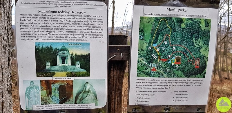mauzoleum Beckera, mauzoleum w Maciejowej, Maciejowa, góry kaczawskie, atrakcja turystyczna, turystyka, sudety