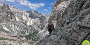 Włochy || Dolomity: via ferrata Giovani Lipella wmasywie Tofan