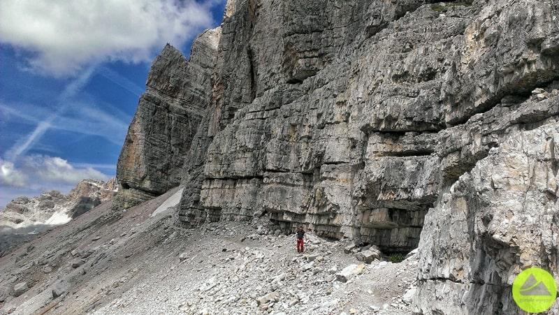 Trasy w Dolomitach do via ferrata Lipella