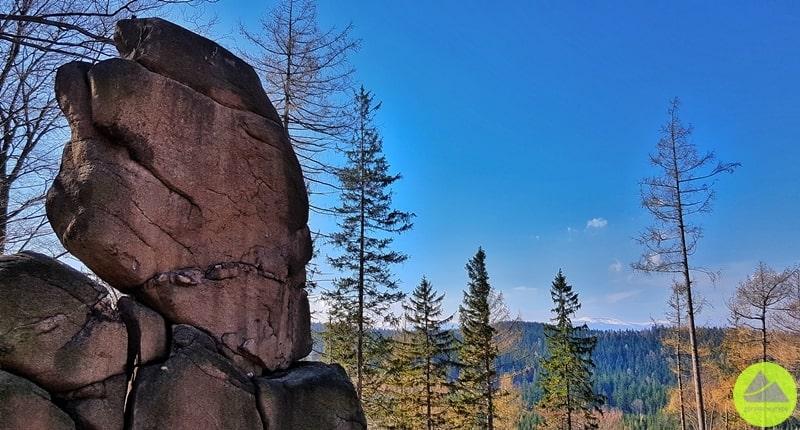 skała Mała Czaszka Rudawski Park Krajobrazowy