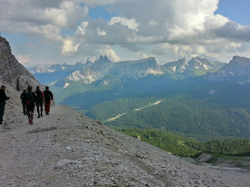 po ferracie Lipella w Dolomitach