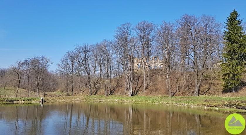 widok naruiny zamku wRybnicy