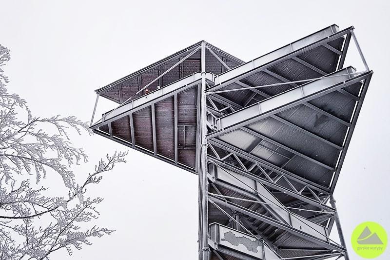 nowoczesna wieża widokowa wSudetach