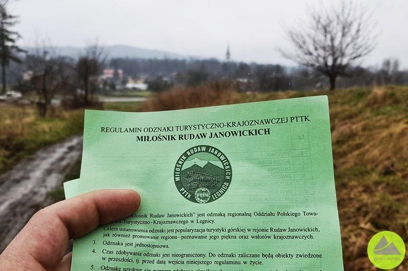 odznaka turystyczna miłośnik rudaw janowickich