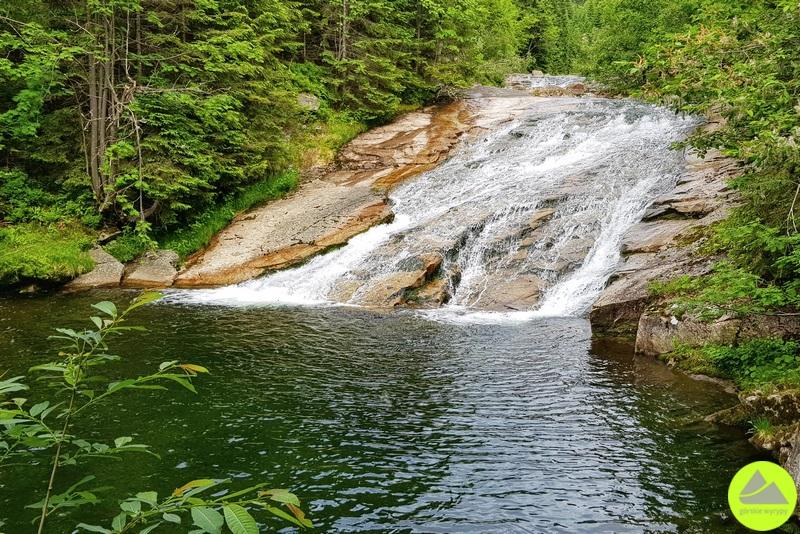 Dolina Białej Łaby  Dlouhý vodopád