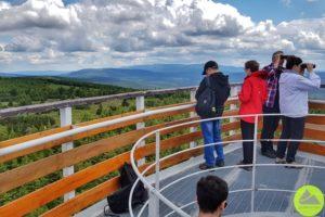Góry Izerskie wieża widokowa naSmreku