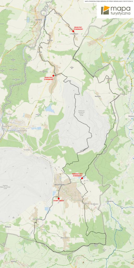 2. edycja Rajdu Kotliny Turoszowskiej mapa